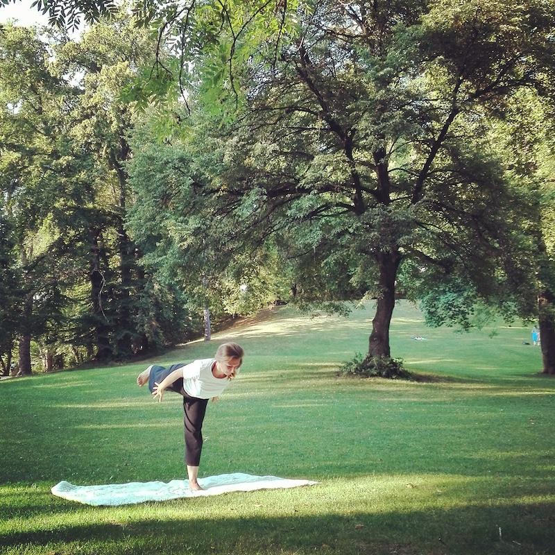 Yoga draußen, München